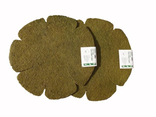 Bosmere F511 2-Pack Cloverleaf Basket Liners, Coco Fiber, 14-Inch, Green by Bosmere