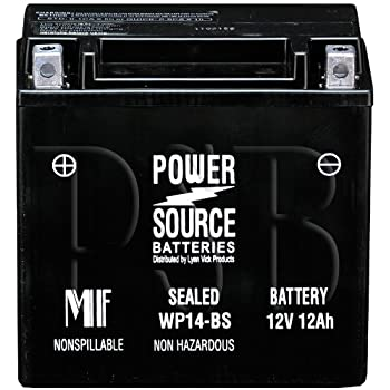 65948-00A, 65948-00, UBVT-8 Replacement Battery 210cca High Performance WP14-BS Sealed AGM for Harley Davidson Buell Motorcycle, Bike
