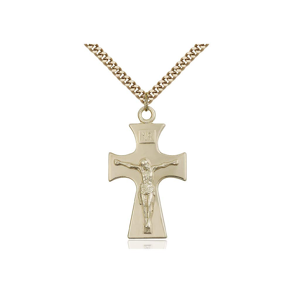 DiamondJewelryNY 14kt Gold Filled Celtic Crucifix Pendant