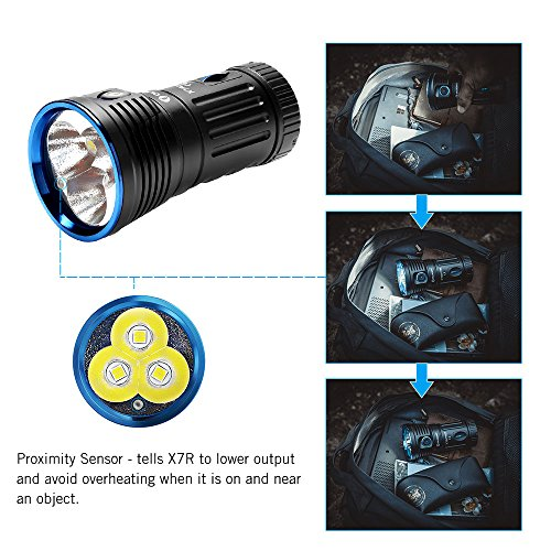 OLIGHT X7R Marauder USB TYPE-C rechargeable 12,000 Lumen LED flashlight/searchlight, 4 X 18650 rechargeable batteries with GrapheneFast battery case by OLIGHT (Image #1)