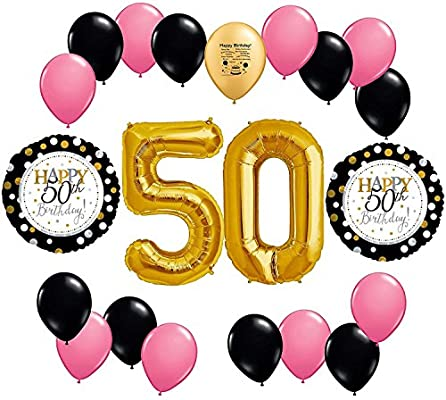 Amazon Happy 50th Birthday Balloon Decoration Kit Toys Games