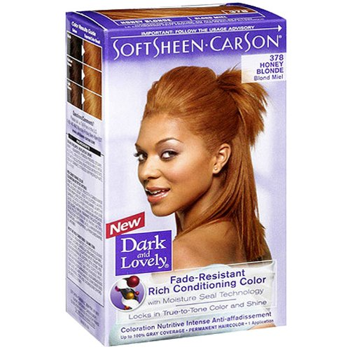Dark and Lovely Fade Resistant Rich Conditioning Color, No. 378, Honey Blonde, 1 ea