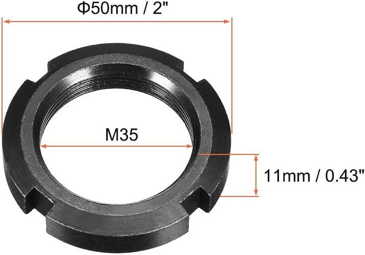 sourcing map M40x1.5mm /Écrous ronds quatre fentes retenue 2 Pcs