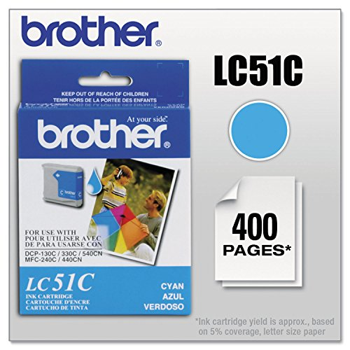 - Brother Cyan Inkjet Cartridge for MFC-240C Multi-Function Printer - Inkjet - 400 Page - Cyan