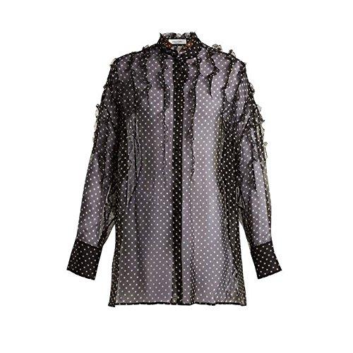 リンク口輝く(ヴァレンティノ) Valentino レディース トップス ブラウス?シャツ Polka-dot print silk-chiffon blouse [並行輸入品]