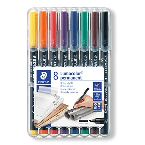 Staedtler(R) Mars(R) Lumocolor(R) 80% Recycled Permanent Markers, Broad, Assorted Colors, Pack Of 8