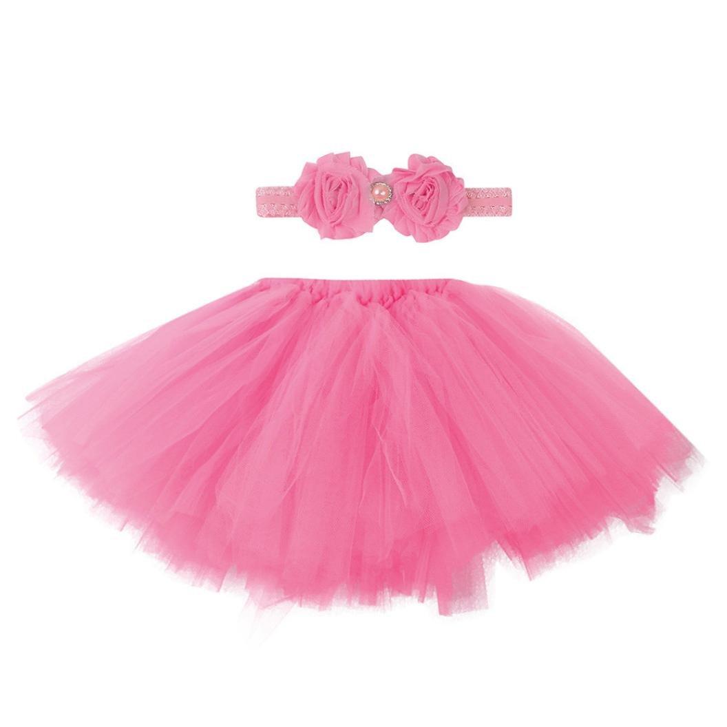 Fami-Neonato neonato 0-4 mesi Lace Set vestiti Photo Prop Anniversary Outfits Free size)