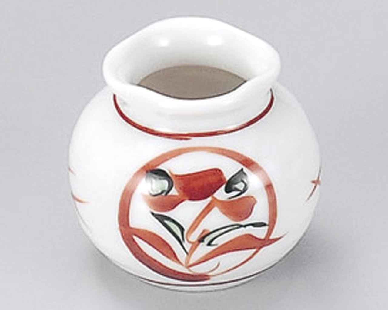 Marumon Akae 1.7inch Set of 5 Toothpick holders White porcelain Made in Japan by Watou.asia