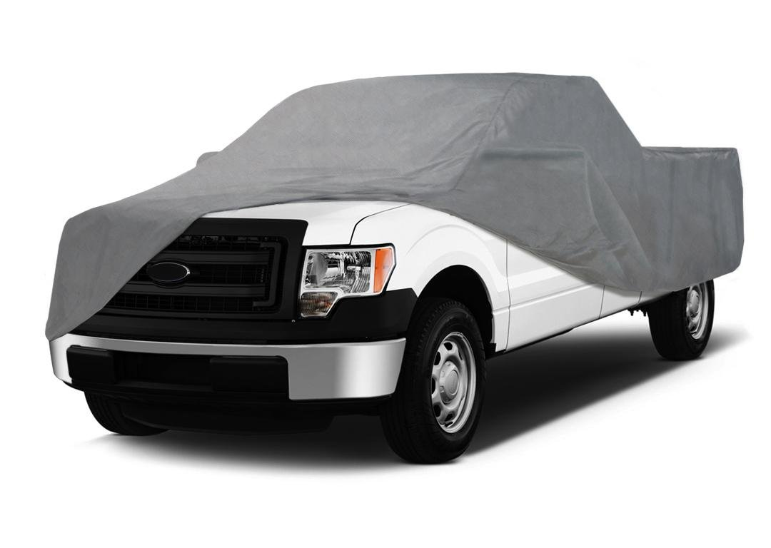 Coverking UVCTFLCI98 Universal Fit Car Cover for Full Size Truck with Long Bed Crew Cab Gray Triguard Light Weather Outdoor