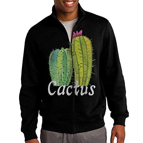 Forrest Gump Costume For Sale - Men's Cactus Solid Stand Collar Zipper Jacket Size L