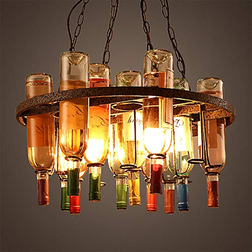 Metal Wine Rack Iron Pendant Lights Multipurpose Adjustable Wine Bottle Holder for Cafe loft Restaurant Kitchen (Optional ()