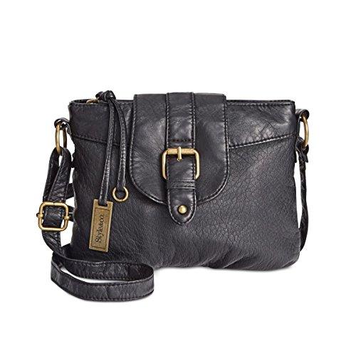 Faux Small amp; Womens Crossbody Handbag Style Leather Buckle SiSYJu0R4m Black SfqU4wT