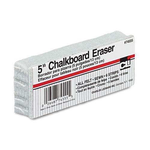 INC 74555 5-Inch Chalkboard Eraser Wool Felt 5w x 2d x 1h CHARLES LEONARD