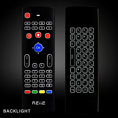 REIIE Backlit Air Mouse 2.4G MX3 Pro Multifunctional Wireless Mini Keyboard And Infrared Remote Learning For KODI, Google Android Smart TV/Box, IPTV, HTPC,Mini PC,Windows,MAC OS,Linux OS,PS3, Xbox 360