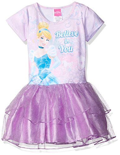 Disney Little Girls' Cinderella Tutu Dress, Lilac Racing, S6/6X -