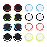 Mixed Colors Silicone Thumb Stick Grip Caps Protect Cover for PS4, Xbox 360, PS3 Controllers, 8 Pair