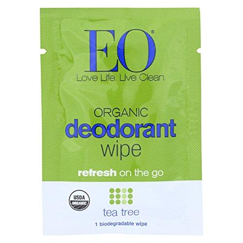 Eo Deodorant Wipes Tea Tree