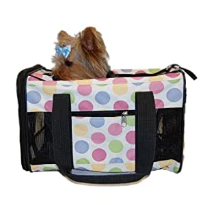Anima Airline Approved Travel Carrier, 15-Inch by 9-Inch by 10-Inch, Color Dots