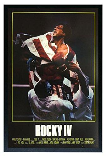 Rocky IV Movie Poster Framed Poster Print 36x24. On a Black