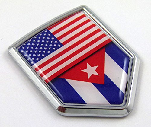 cuban flag car decal - 2