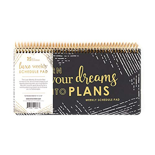 Erin Condren Luxe Weekly Schedule Pad - Undated, 10
