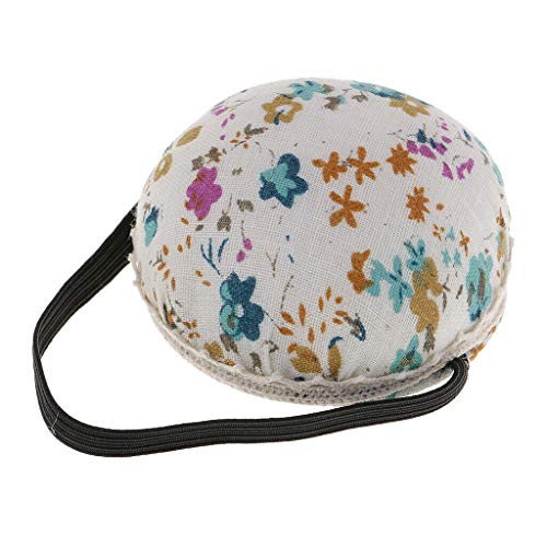 Ball Shape Wrist Pin Cushion Printed Floral Patterns for Teens Girls Sewing | Color - Blue