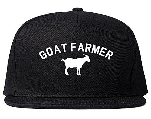 Goat Hat (Goat Farmer Mens Snapback Hat Cap Black)