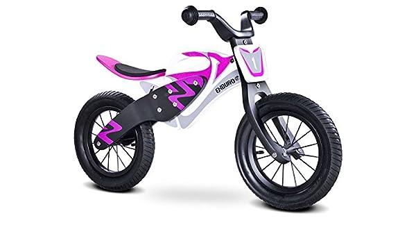 Bicicleta Sin Pedales de Madera Toyz Enduro, Ruedas Neumáticas Color Morado: Amazon.es: Deportes y aire libre