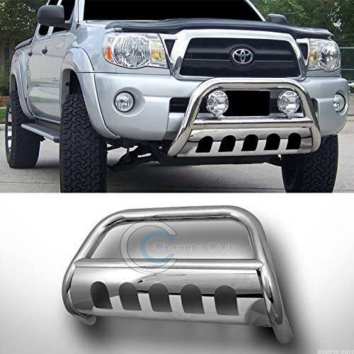 R/&L Racing Utlimate Chrome Stainless Steel Bull Bar Brush Bumper Guard Chevy Colorado GMC Canyon