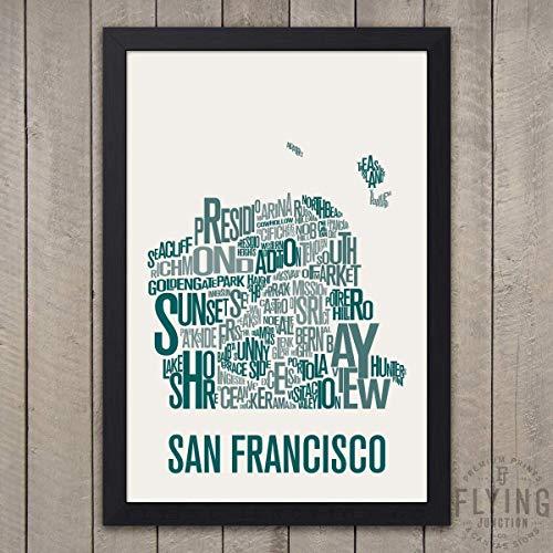 - San Francisco Neighborhood Map Print