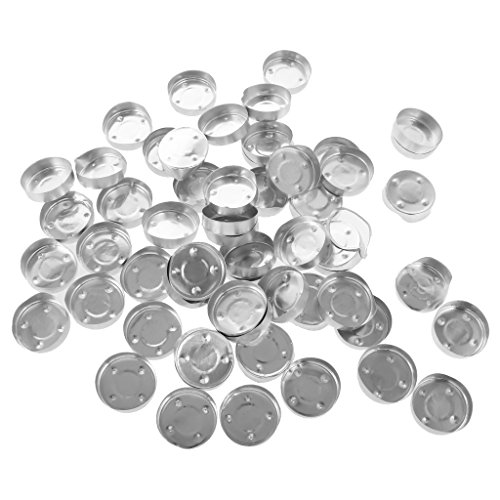 - Dovewill 100 Pieces Aluminium Tea Light Empty Case Containers for Tealight Candles Making 1#