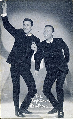 The RIGHTEOUS BROTHERS Band Singer Vintage Billboard Music Vending Arcade Exhibit Card Old B&W