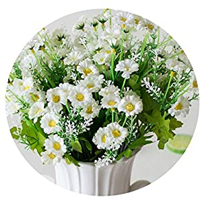 HuaHua-Store Fake Flowers 28 Heads Spring Daisy Flowers Artificial Flower Gerbera Daisy Flowers Heads for DIY Wedding Party Decoration Flores 100