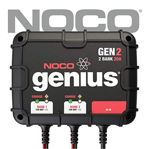 - NOCO Genius GEN2 20 Amp 2-Bank On-Board Battery Charger