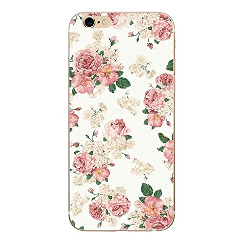 Desirca Phone Case Capa for iPhone 7 Cactus Cover Flower Rose Plant Leaves Silicone Shell Funda for iPhone 7 Plus 8 6 6S 5S Se 5 Gray for iPhone 6 6S