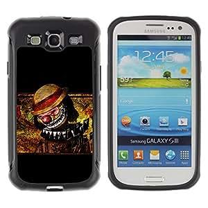 Suave TPU Caso Carcasa de Caucho Funda para Samsung Galaxy S3 I9300 / Clown Scary Creepy Art Drawing Hat Nose / STRONG