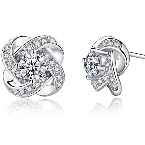 sterling silver earrings_zirconia earring_woman earrings studs_crystal earrings_wedding earrings jewelry hypoallergenic