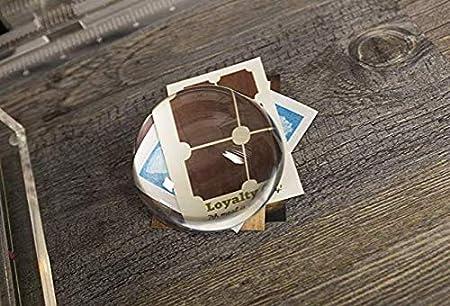H /& D Clear Crystal Ball semisfera fermacarte decorazione artigianale 60 mm