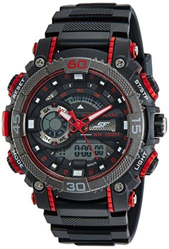 Sonata Fibre (SF) Digital Black Dial Men's Watch-NL77070PP01