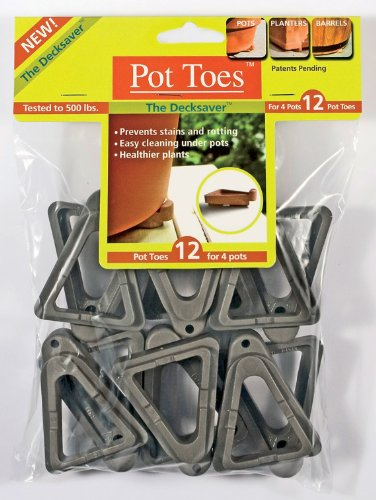 Plantstand PT-12CHHT 12-Pack Dark Gray Pot toes - Toes Pot