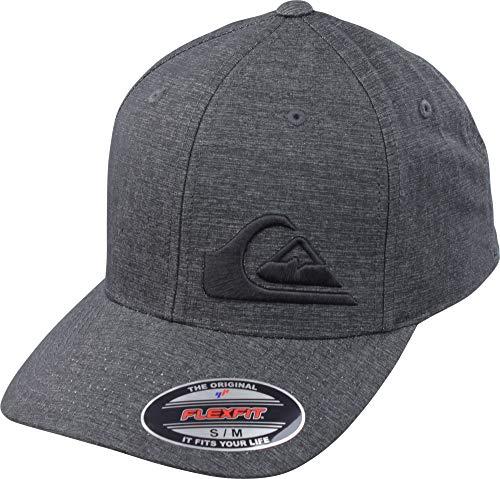 (Quiksilver Men's Final Stretch FIT HAT, Charcoal Heather, L/XL)
