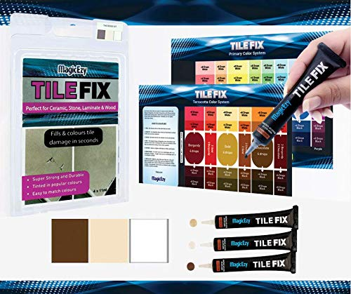 MagicEzy Tile Fix Repair Kit  Beige Touch-Up Kit - Fills and Colors Cracked Porcelain Tiles Fast