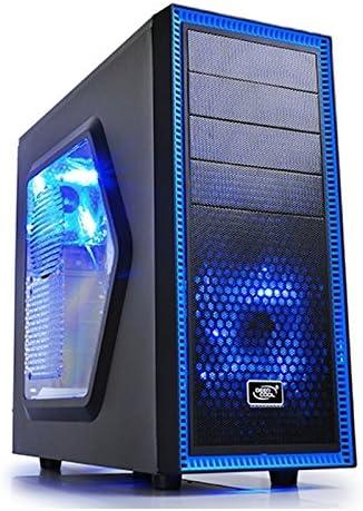 DeepCool Tesseract SW Midi-Tower Negro, Azul - Caja de Ordenador ...