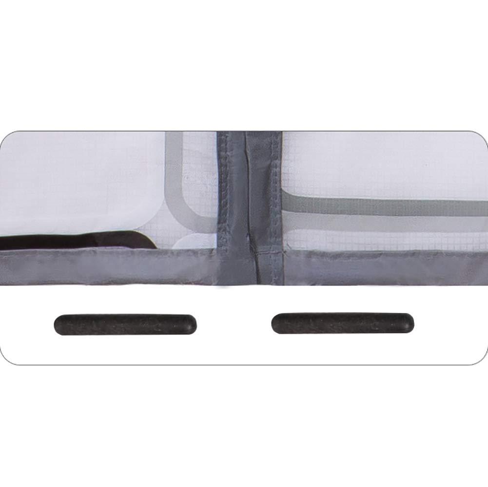Magn/ético t/érmico aislado cortina de puerta Cortina de puerta m/ás auto t/érmico y aislante Evitar la p/érdida de aire acondicionado Para la sala de aire acondicionado-Gris 120x230cm 47x91inch