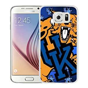 Popular Samsung Galaxy S6 Cover Case ,Southeastern Conference SEC Football Kentucky Wildcats 1 White Samsung Galaxy S6 Case Hot Sale And Unique Designed Phone Case