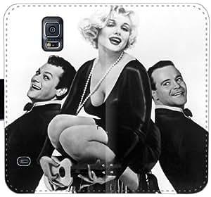 Con faldas ya lo loco Marilyn Monroe Sugar Kane Kowalczyk N6T3N Funda Samsung Galaxy S5 caja de cuero funda 12d1c7 teléfono fundas caso del tirón de protección personalizada