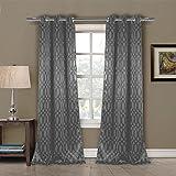 Duck River Textiles TAYLA 4661=12 Blackout Grommet (2 Piece), 36″ x 84″, Gray Review