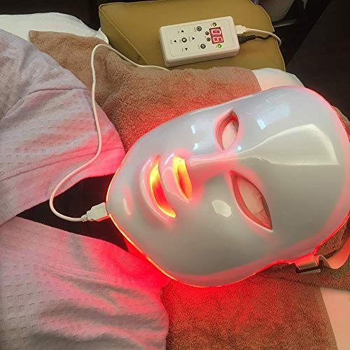 Led Face Mask - Angel Kiss 7 Color Photon Blue Red Light Therapy Skin Rejuvenation Facial Skin Care Mask by Angel Kiss (Image #5)