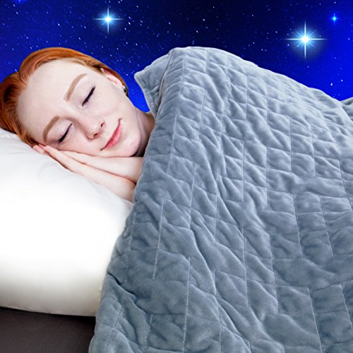 Dr. Hart's Weighted Blanket for Adults & Kids | Heavy Gravity Blanket for Anxiety Relief & to Improve Sleep | Natural Sleep Aid & Stress Relief | Calming Weighted Comforter & Cover | 15 lbs | 60x80 by Dr. Hart's