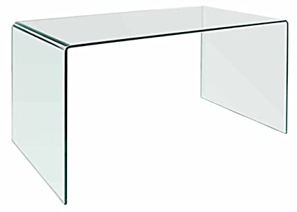 Clear office desk Minimalist Image Unavailable Amazoncom Amazoncom Creative Images International Glass Collection Bent